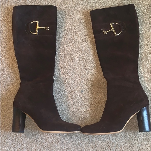 Gucci Shoes - Authentic Gucci Horsebit Suede Boots